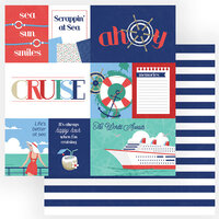 Photo Play Paper - Set Sail Collection - 12 x 12 Double Sided Paper - Ahoy