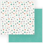 Photo Play Paper - Set Sail Collection - 12 x 12 Double Sided Paper - Sail Away