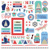 Photo Play Paper - Set Sail Collection - Elements 12 x 12 Cardstock Stickers
