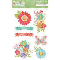 Photo Play Paper - Spring in My Garden Collection - Puffy Stickers