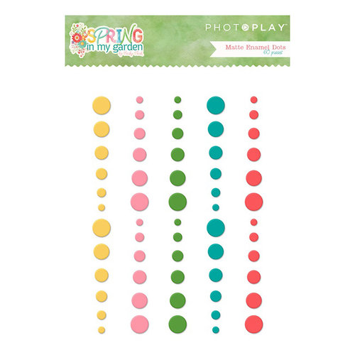 Photo Play Paper - Spring in My Garden Collection - Enamel Dots - Matte
