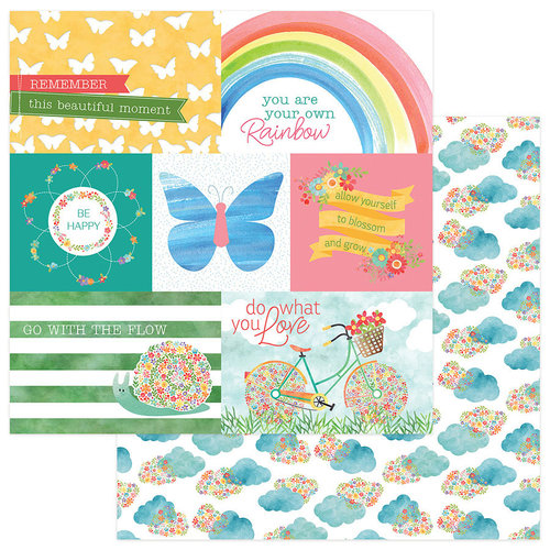 Photo Play Paper - Spring In My Garden Collection - 12 x 12 Double Sided Paper - Bloom Cards