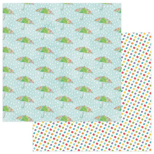 Photo Play Paper - Spring In My Garden Collection - 12 x 12 Double Sided Paper - Puddles