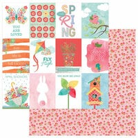 Photo Play Paper - Spring In My Garden Collection - 12 x 12 Double Sided Paper - Sprout 3 x 4 Cards