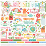 Photo Play Paper - Spring in My Garden Collection - 12 x 12 Cardstock Stickers - Elements