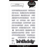 Photo Play Paper - Say It With Stamps Collection - Clear Photopolymer Stamps - Birthday