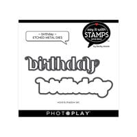 Photo Play Paper - Say It With Stamps Collection - Dies - Birthday