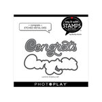 Photo Play Paper - Say It With Stamps Collection - Dies - Congrats