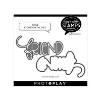 Photo Play Paper - Say It With Stamps Collection - Dies - Friend