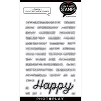 Photo Play Paper - Say It With Stamps Collection - Clear Photopolymer Stamps - Happy