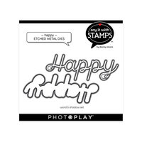 Photo Play Paper - Say It With Stamps Collection - Dies - Happy