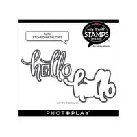 Photo Play Paper - Say It With Stamps Collection - Dies - Hello