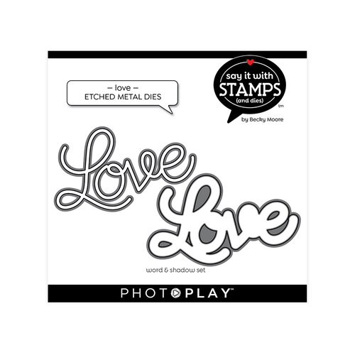 Photo Play Paper - Say It With Stamps Collection - Dies - Love