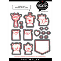 Photo Play Paper - Say It With Stamps Collection - Dies - Pocket Pals