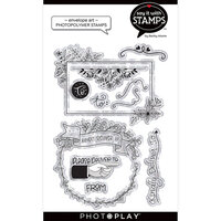 Photo Play Paper - Say It With Stamps Collection - Clear Photopolymer Stamps - Envelope Art