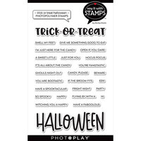 Photo Play Paper - Say It With Stamps Collection - Clear Photopolymer Stamps - Trick or Treat Halloween