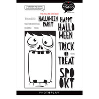 Photo Play Paper - Say It With Stamps Collection - Clear Photopolymer Stamps - Big Mouth Halloween