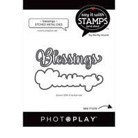 Photo Play Paper - Say It With Stamps Collection - Dies - Blessings