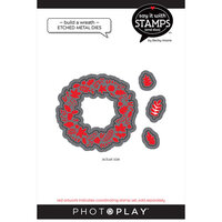 Photo Play Paper - Say It With Stamps Collection - Dies - Build A Wreath
