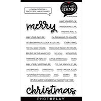 Photo Play Paper - Say It With Stamps Collection - Clear Photopolymer Stamps - Merry Christmas