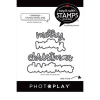 Photo Play Paper - Say It With Stamps Collection - Dies - Merry Christmas