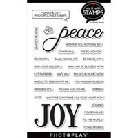 Photo Play Paper - Say It With Stamps Collection - Clear Photopolymer Stamps - Peace and Joy