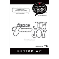 Photo Play Paper - Say It With Stamps Collection - Dies - Peace and Joy