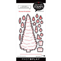 Photo Play Paper - Say It With Stamps Collection - Dies - Trim A Tree