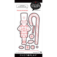 Photo Play Paper - Say It With Stamps Collection - Dies - Nutcracker And Candy Cane