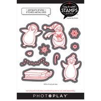 Photo Play Paper - Say It With Stamps Collection - Dies - Penguins At Play