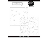 Photo Play Paper - Say It With Stamps Collection - 6 x 6 Stencil - Holly Berries