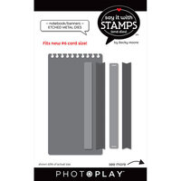 Photo Play Paper - Say It With Stamps Collection - Dies - Notebook And Banners