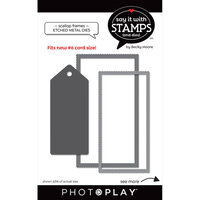 Photo Play Paper - Say It With Stamps Collection - Dies - Scallop Frames