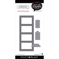 Photo Play Paper - Say It With Stamps Collection - Dies - Four Pane Rectangle Windows