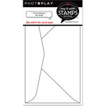 Photo Play Paper - Say it With Stamps Collection - White Envelopes - Size Number 6