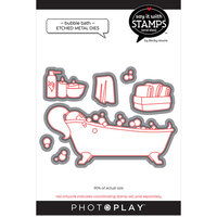 Photo Play Paper - Say It With Stamps Collection - Dies - Bubble Bath
