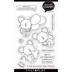 Photo Play Paper - Say It With Stamps Collection - Clear Photopolymer Stamps - Mini Mice