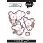 Photo Play Paper - Say It With Stamps Collection - Dies - Mini Mice