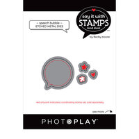 Photo Play Paper - Say It With Stamps Collection - Dies - Speech Bubbles