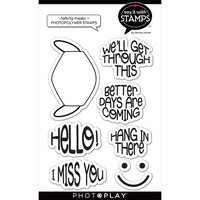 Photo Play Paper - Say It With Stamps Collection - Clear Photopolymer Stamps - Talking Masks