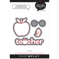 Photo Play Paper - Say It With Stamps Collection - Dies - My Teacher Rocks