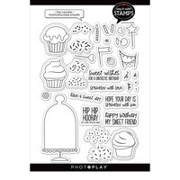 Photo Play Paper - Say It With Stamps Collection - Clear Photopolymer Stamps - Hey Cupcake