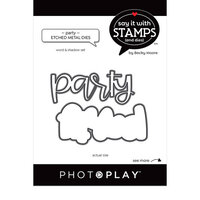 Photo Play Paper - Say It With Stamps Collection - Dies - Party