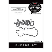 Photo Play Paper - Say It With Stamps Collection - Dies - Sweet