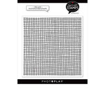 Photo Play Paper - Say It With Stamps Collection - Clear Photopolymer Stamps - Ditsy Grid