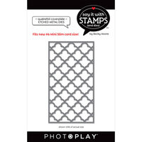 Photo Play Paper - Say It With Stamps Collection - Dies - Quatrefoil Cover Plate