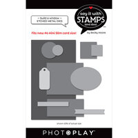 Photo Play Paper - Say It With Stamps Collection - Dies - Build a Window