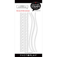 Photo Play Paper - Say It With Stamps Collection - Dies - Borders