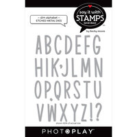 Photo Play Paper - Say It With Stamps Collection - Dies - Slim Alphabet