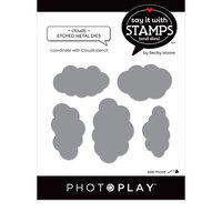 Photo Play Paper - Say It With Stamps Collection - Dies - Clouds